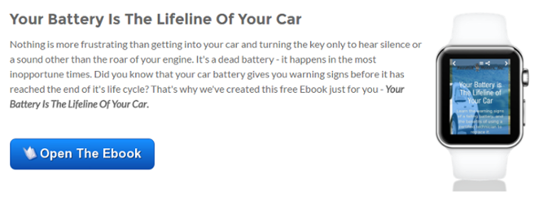 Open the Ebook - Your Battery Is The Lifeline Of Your Car