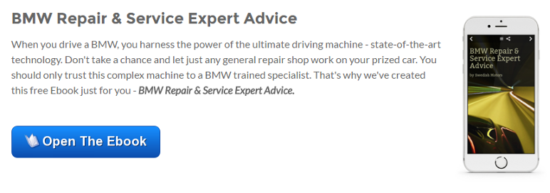 Open Our BMW Repair & Service Expert Advice Ebook