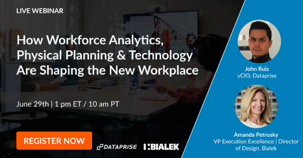Register now for our June 29th webinar on workforce analytics, physical planning, and technology.