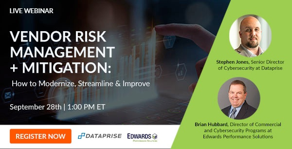 Register for our Sep 28 webinar for an interactive discussion on vendor risk management and mitigation.