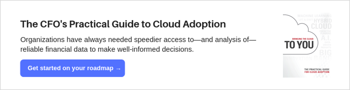 Download the eBook: The CFO's Practical Guide to Cloud Adoption