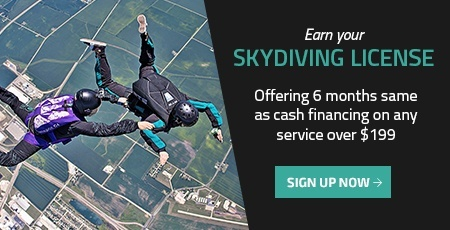 learn to skydive financing