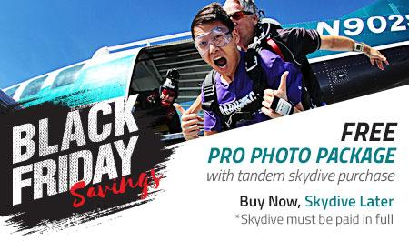 tandem skydiving black friday sale