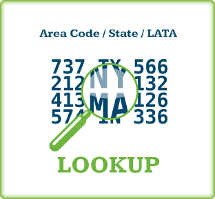 Lookup Area Code / State / LATA