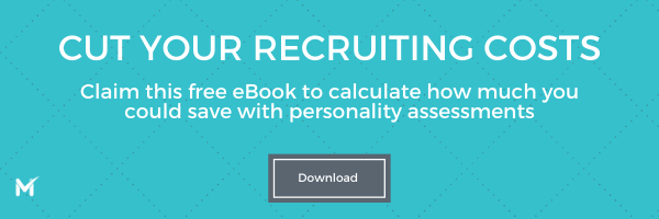 Calculate recruitment costs and personality assessment ROI with this free eBook