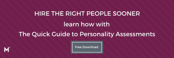 Hiring with Personality Assessments