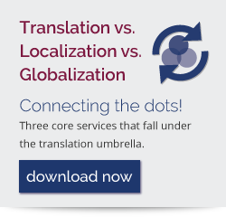 Translation vs Localization vs Globalization - Connecting the dots! Download now