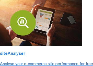 siteAnalyser  Analyse your e-commerce site performance for free