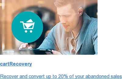 cartRecovery  Recover and convert up to 20% of your abandoned sales