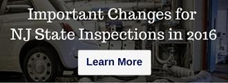 Important Changes for NJ State Inspections in 2016