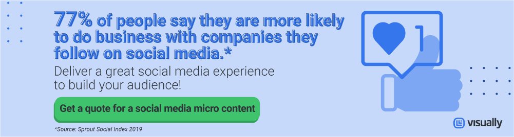 Get a quote for a social media micro content right now!