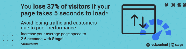 Increase your pagespeed with Stage!