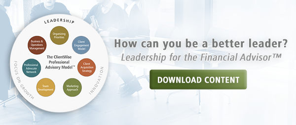 Leadership for the Financial Advisor practice management content