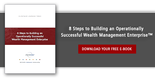 wealth management advisor building an enterprise