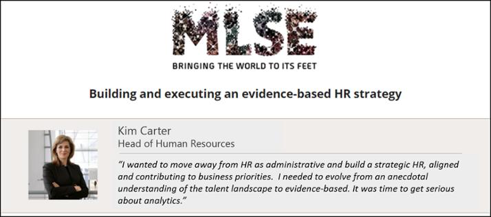 MLSE HR Success Story