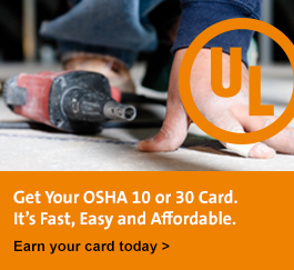 Get your OSHA 10 or 30 Card. It's fast, easy and affordable. Earn your card today!