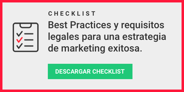 Checklist best practices y requisitos legales email marketing