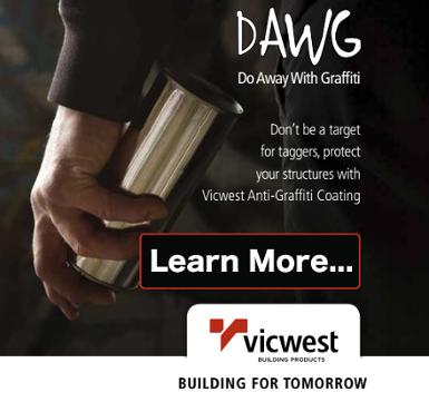Anti-graffiti coating by Vicwest