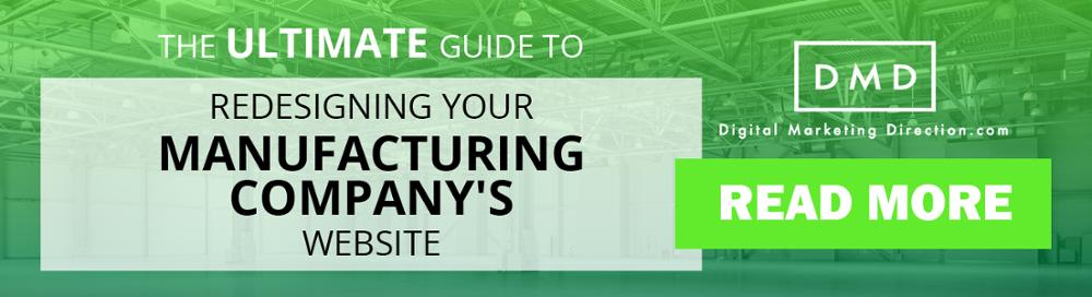 manufacturing website redesign guide cta