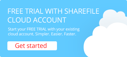 Free one month trial with existing cloud storage account
