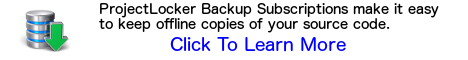 ProjectLocker Backup Subscriptions make it easy to keep offline copies of your source code.