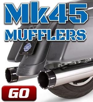 """Mk45 4.5"""" Touring Mufflers"""