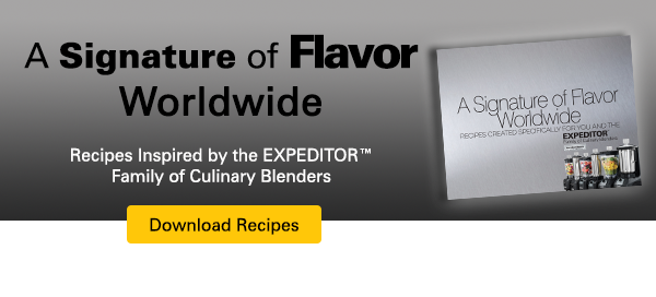 "Download the EXPEDITOR Recipe Book, ""A Signature of Flavor Worldwide"""