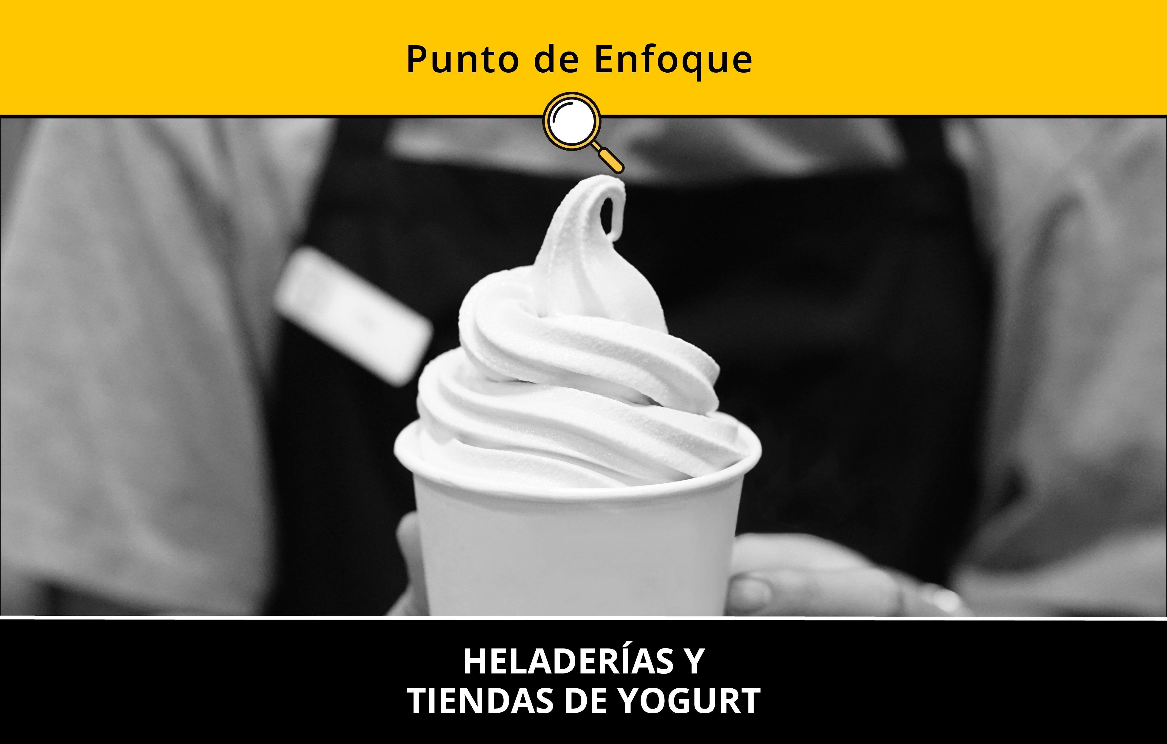 Heladerías y tiendas de yogurt