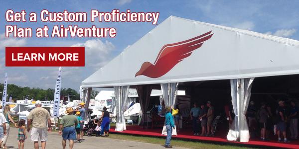 Get a Custom Proficiency Plan in the Redbird Tent at EAA AirVenture 2021
