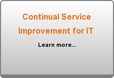 Continual Service Improvement for IT  Learn more...