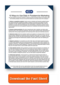 CHD Expert Data in Foodservice Marketing Fact Sheet