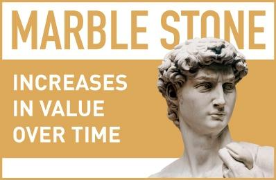Marble Stone increases in value overtime