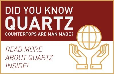 Did you know quartz countertops are man made?