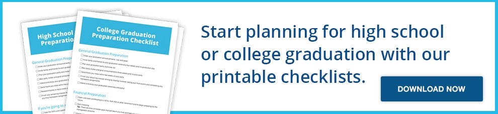 High School and College Graduation Preparation Checklist