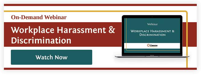 Workplace Harassment & Discrimination Webinar