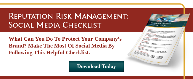 Reputation Risk Management Social Media Checklist