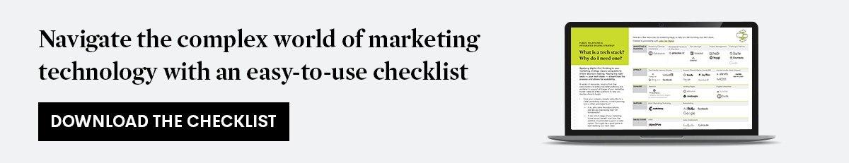 Download the marketing technology checklist