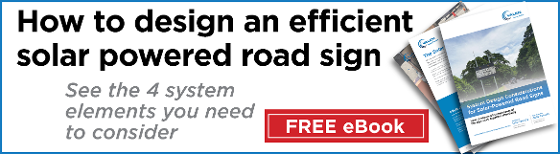 How to design an efficient solar powered road sign