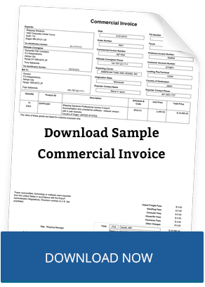 Download Sample of Commercial Invoice