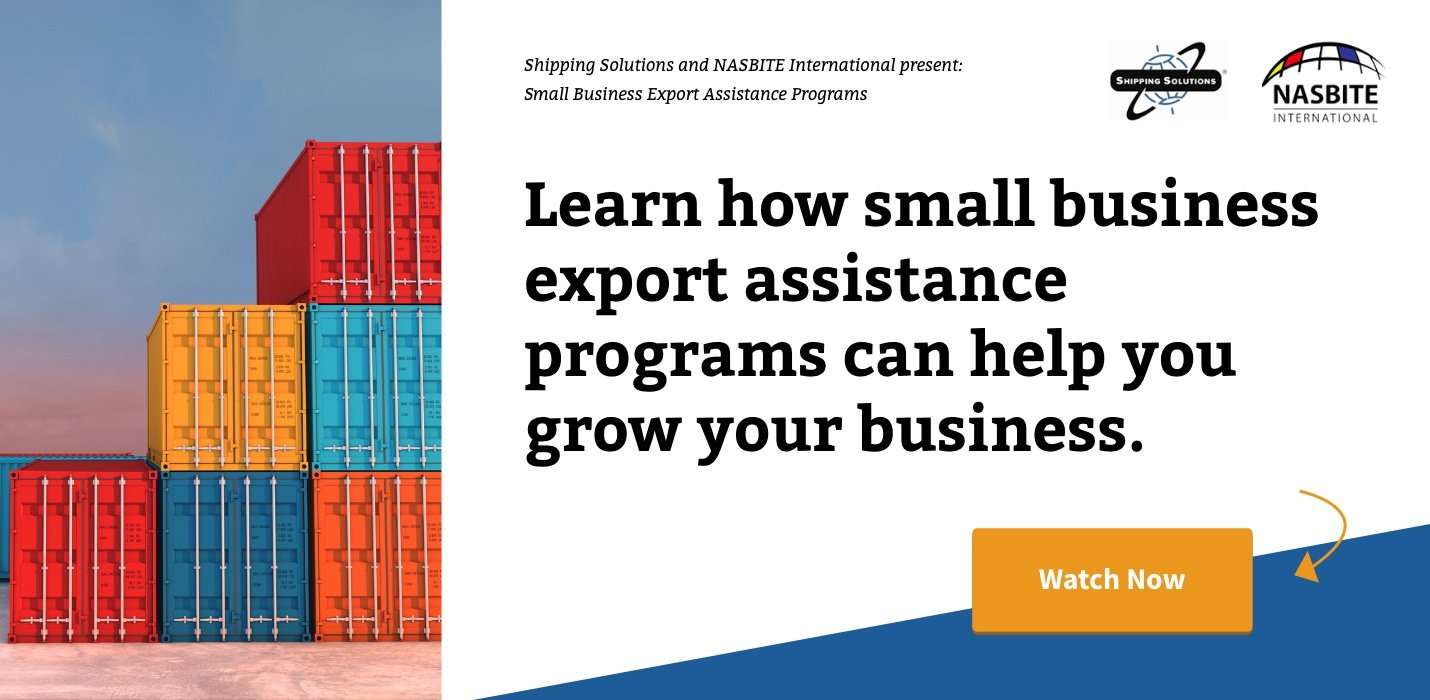 Watch Now - Small Business Export Assistance Programs