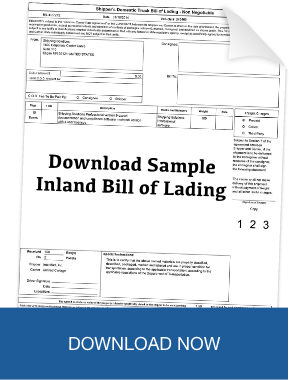Download Sample Inland Bill of Lading