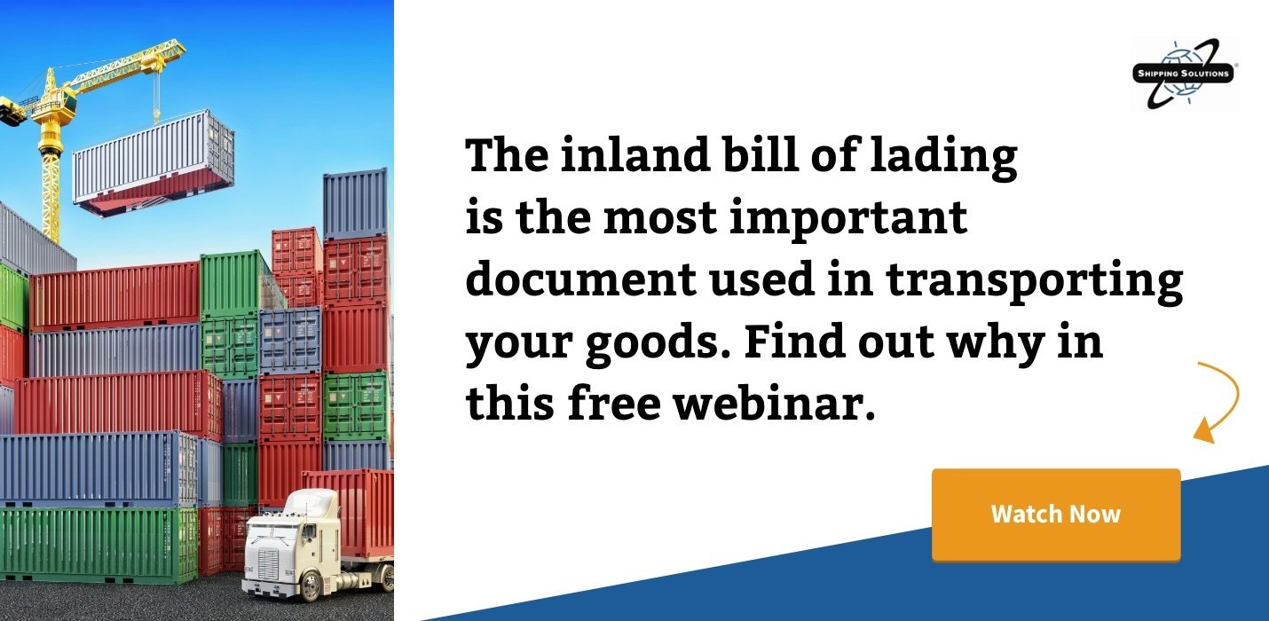 Watch Now: Understanding the Inland Bill of Lading