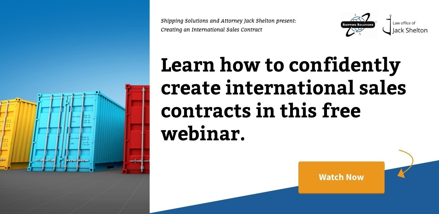 Watch Now: Creating an International Sales Contract