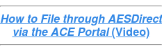 How to File through AESDirect via the ACE Portal (Video)