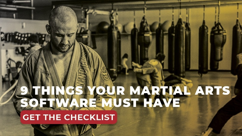 Martial Arts Software Checklist