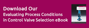 Download Our Evaluating Process Conditions in Control Valve Selection eBook
