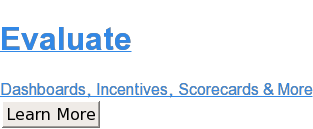 Evaluate  Dashboards, Incentives, Scorecards & More Learn More