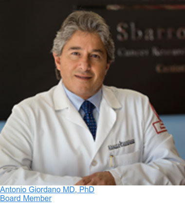 Antonio Giordano MD, PhD  Board Member