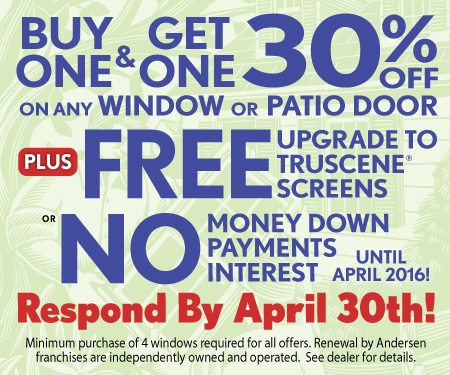 Replacement Windows And Patio Doors Spring Offer