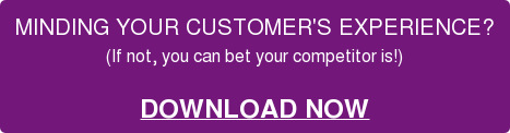 MINDING YOUR CUSTOMER'S EXPERIENCE?  (If not, you can bet your competitor is!)   DOWNLOAD NOW
